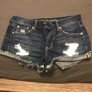 American Eagle Low Rise Denim Shorts - Dark Wash
